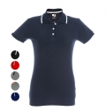 POLO BICOLOR MULHER SLIM FIT ROME WOMEN CORES